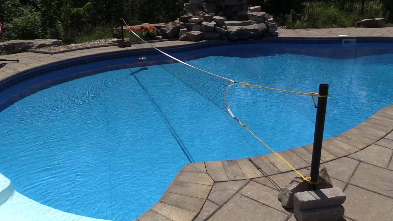 diy swimming pool volleyball net youtube