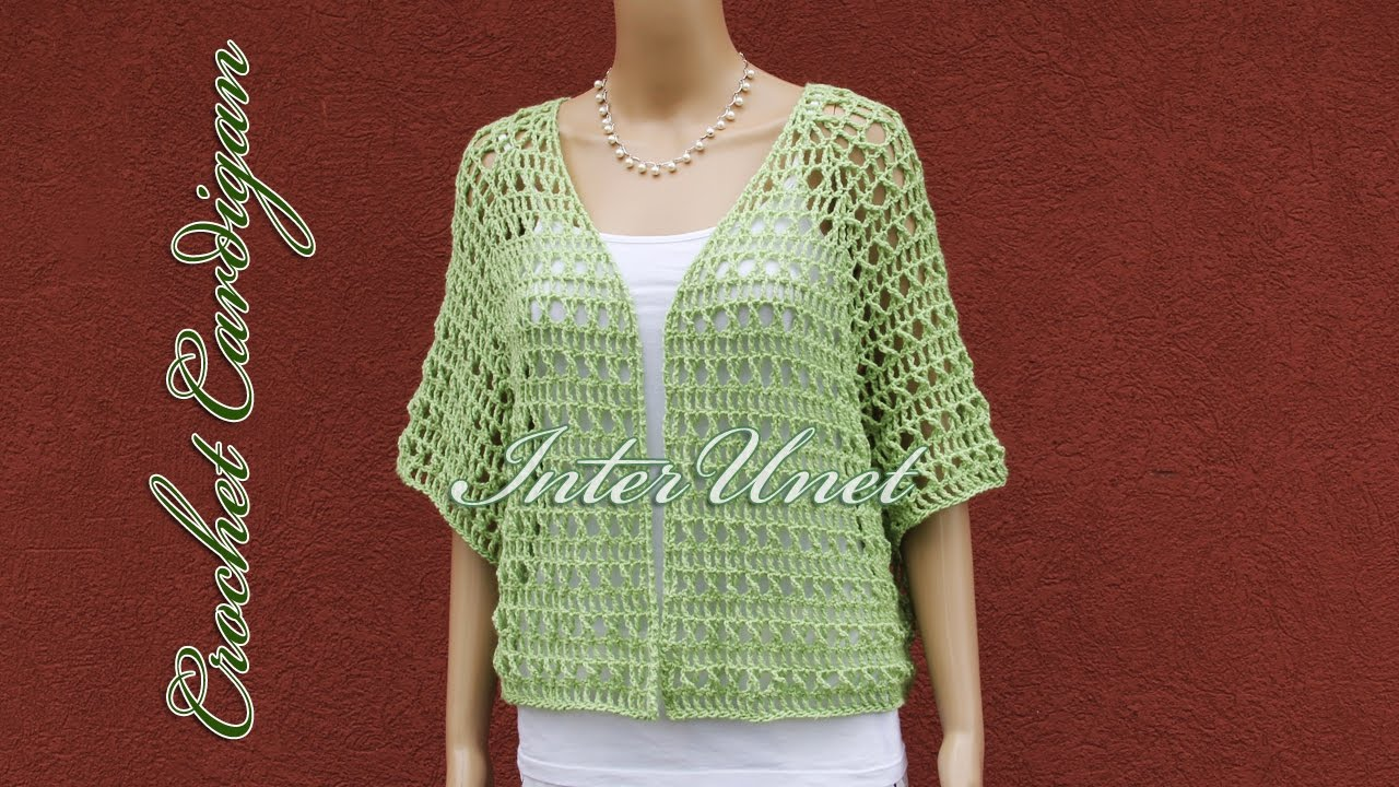 Lace cardigan jacket crochet pattern – how to crochet a shrug ...