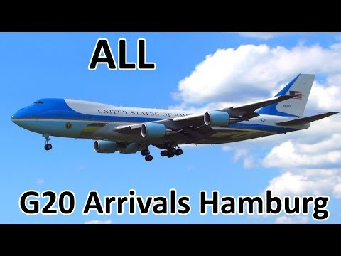G20 Hamburg | ALL Government/Presidential Aircraft Arrivals - Planespotting at Hamburg (2017)