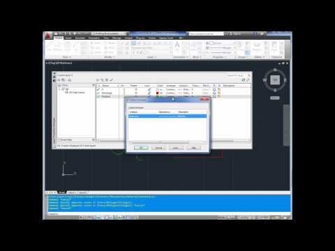 Autocad Tutorial; Basics Pt6 How to use Layers, Layer Manager