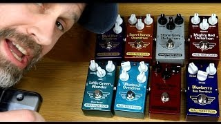 8 Overdrive Pedals from Mad Professor Comparison - Shootout