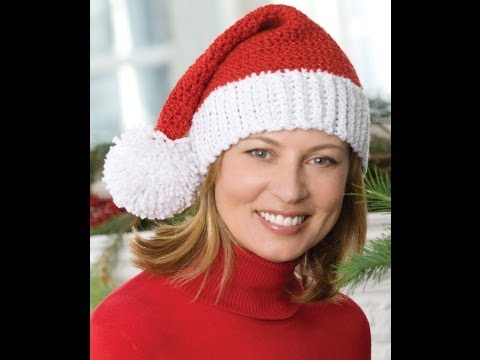 How to Crochet Santa Hat - Video One