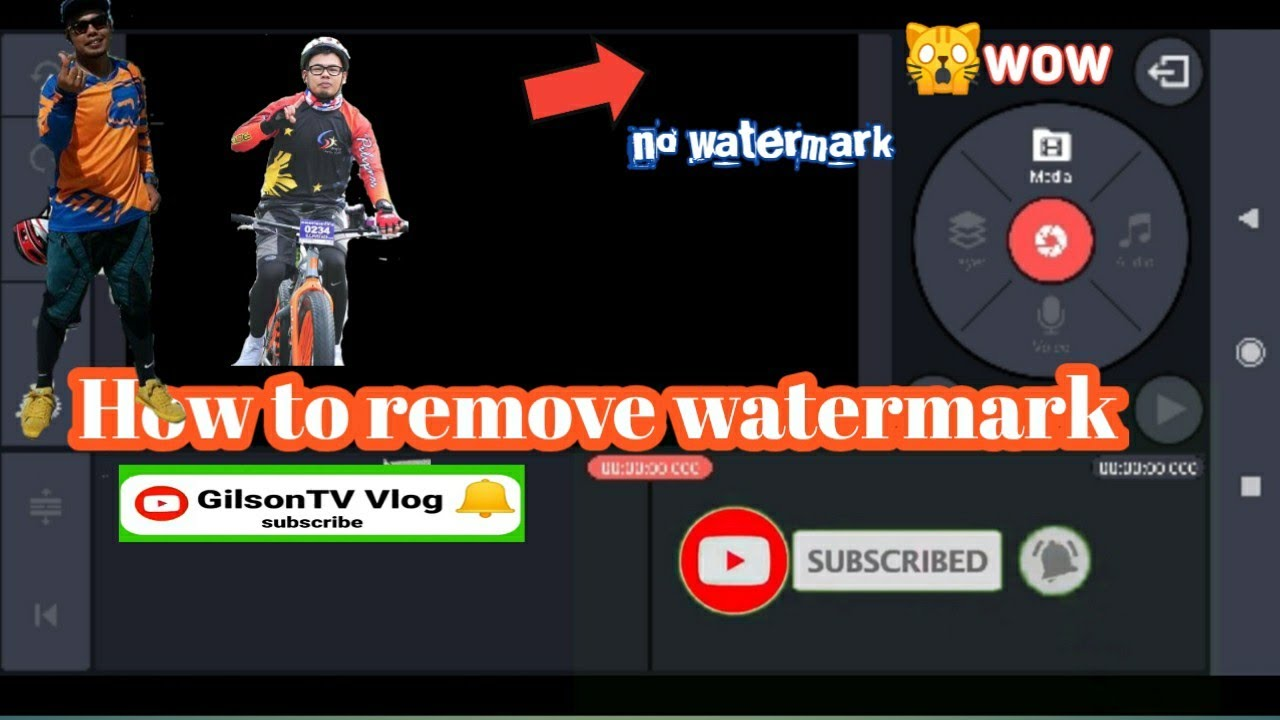 How to remove watermark of kinemaster in just one click must watch.