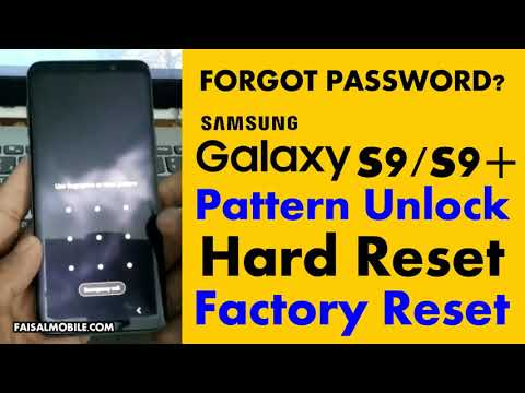 How To Hard Reset Samsung Galaxy S9 Pattern unlock Factory Reset Easy Method