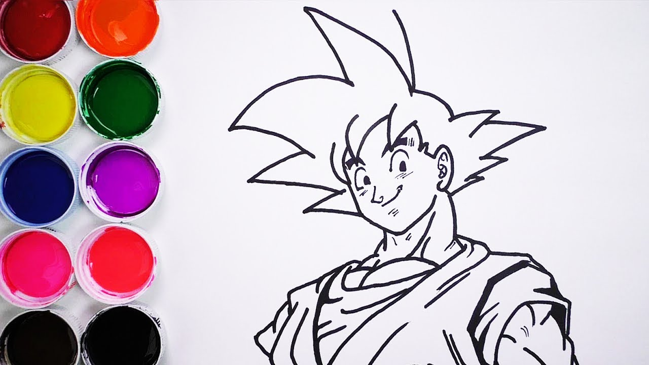 Dibuja Y Colorea A Goku