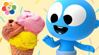 New Coloring Pages | Ice Cream Truck with GooGoo Baby & Color Crew | My Color Friends for Babies