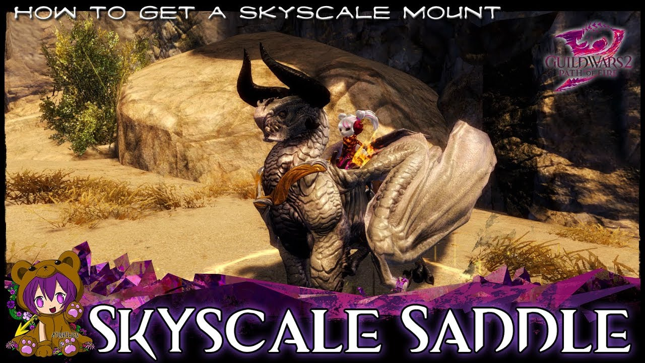 ★ Guild Wars 2 ★ - Skyscale Saddle achievement (Skyscale mount)