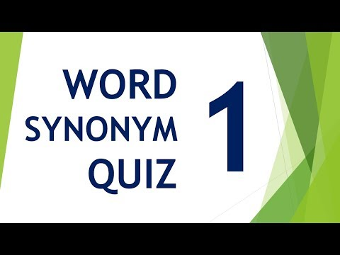 Will You Pass Word Synonym Quiz ?? Episode 01
