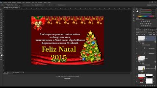 Como fazer efeito convite de Natal Photoshop