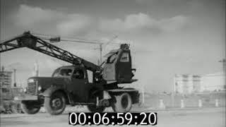 На стройках столицы 1954