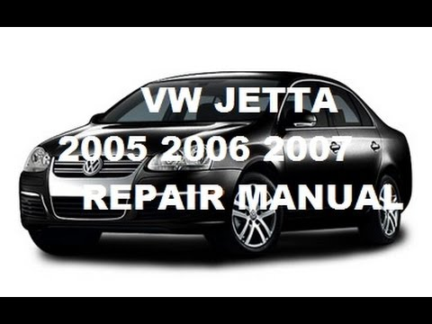 Volkswagen Jetta 2005 2006 2007 repair manual
