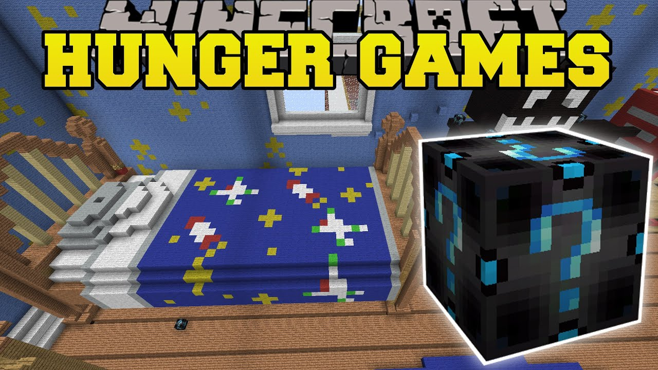 Minecraft BEDROOM HUNGER GAMES Lucky Block Mod Modded