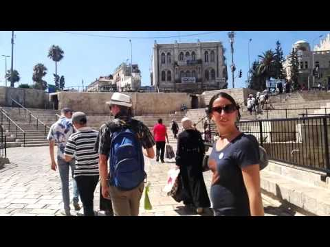 Crossing the Damascus Gate in the Old City of Jerusalem