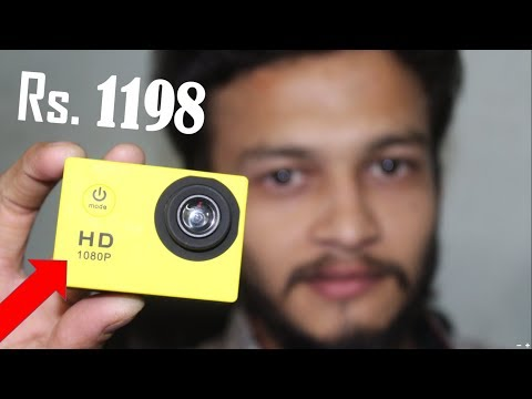 {HINDI} cheap Waterproof Sports Camera with Rechargeable Batteries and Mounting Accessories Kit