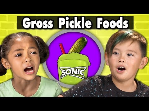 KIDS TRY GROSS PICKLE FLAVORED FOODS! Kids...
