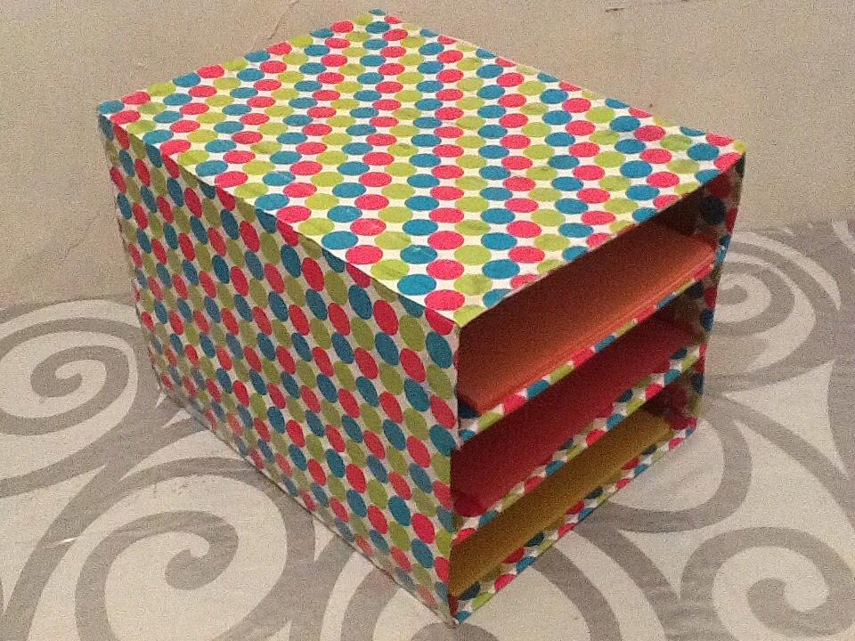 Diy haz organizador de hojas de papel para escritorio - Organizador de papeles ...