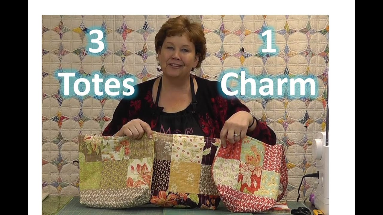 Make Three Totes Purses With One Charm Pack Youtube