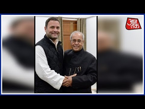 Rahul Gandhi Meets Pranab Mukherjee Before Filing Nominations For Congress Presidential Election