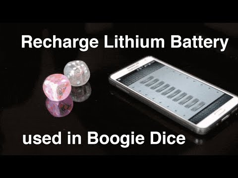 Rechargeable lithium battery LP451522 3 7V 100mAh for Boogie Dice