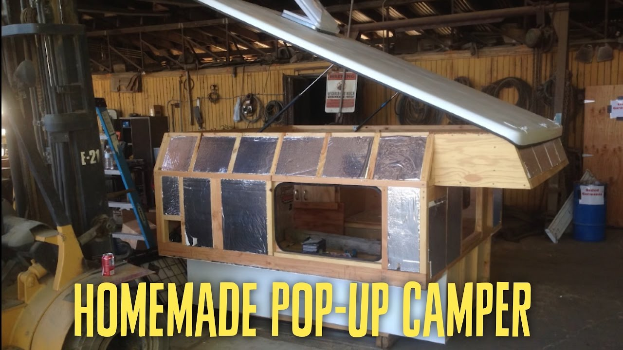 Homemade Pop Up Truck Camper Youtube