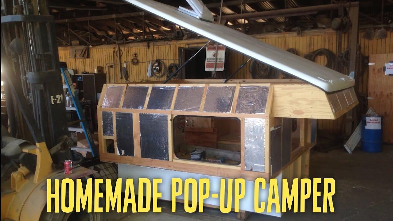 Homemade pop-up truck camper - YouTube