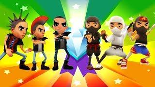 Subway Surfers HONG KONG - Spike+Rock+Punk vs Ninja+Yang+Flame and Mystery Boxes Opening Gameplay