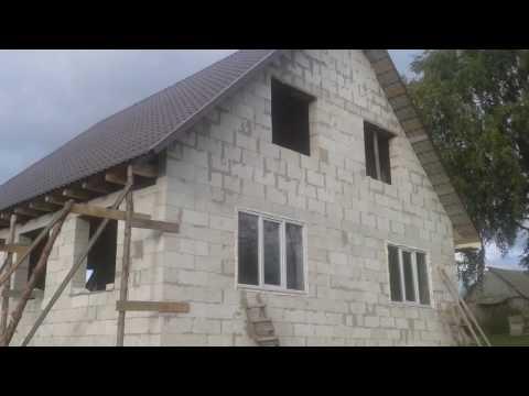 Мой дом из газобетона Стропильная система фронтон металлочерепица