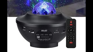 REVIEW-Galaxy Star Projector, BSLED Starry Ocean Wave Projector
