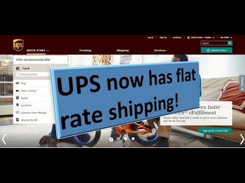UPS.com Simple Rate (flat Rate Shipping)