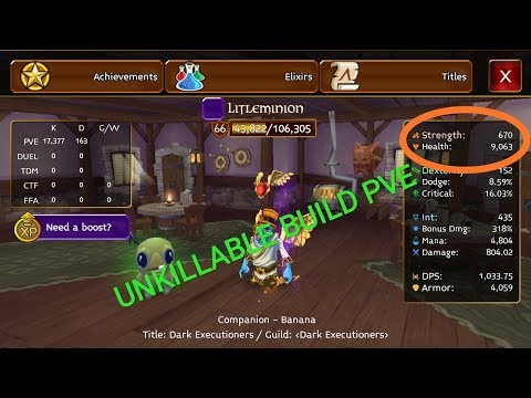 Sorcerer  Pve Unkillable Build -  Arcane Legend 2019