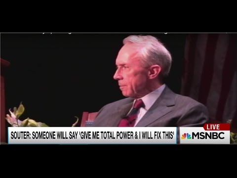 Retired Supreme Court Justice David Souter foreshadowing Donald Trump