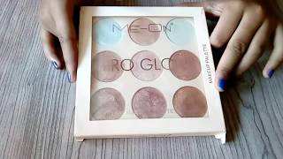 Meon pro glow makeup pallete review | Best highlighter makeup pallete