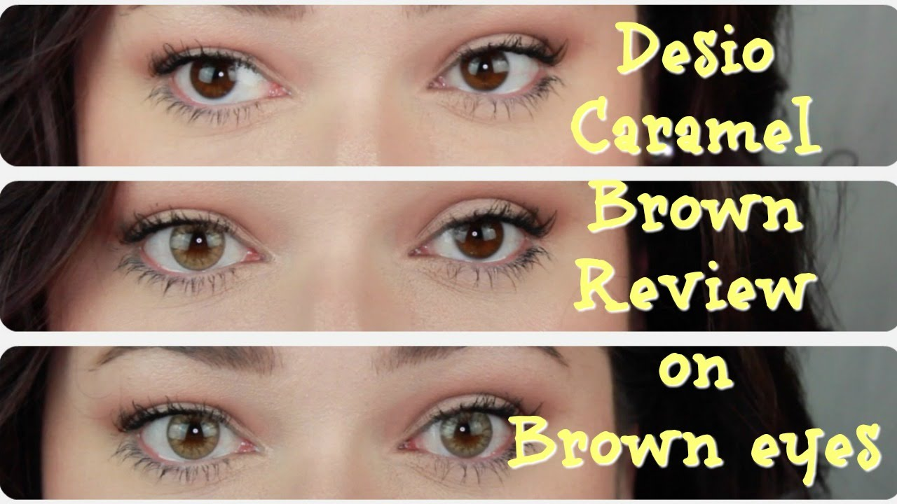 Desio Caramel Brown On Dark Eyes Review Youtube