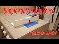 Easy build router fence I Winkelanschlag für die Tischfräse