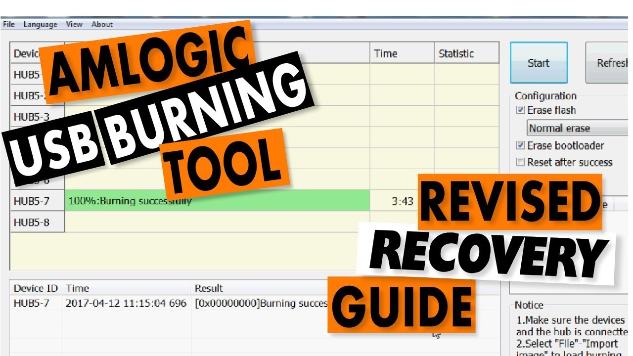 Amlogic USB Burning Tool Recovery Guide: Revised Tutorial