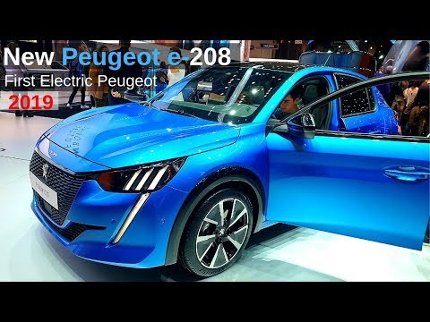 New PEUGEOT e 208 Review 2019 l First Electric Peugeot