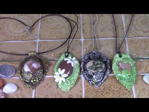 Кулоны с морскими  камешками ХоббиМаркет