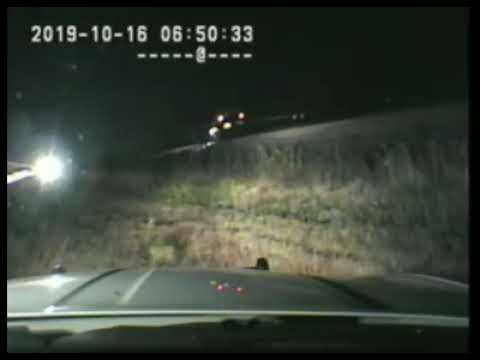 Utah Highway Patrol trooper swoops in to save unconscious man from being hit by a train