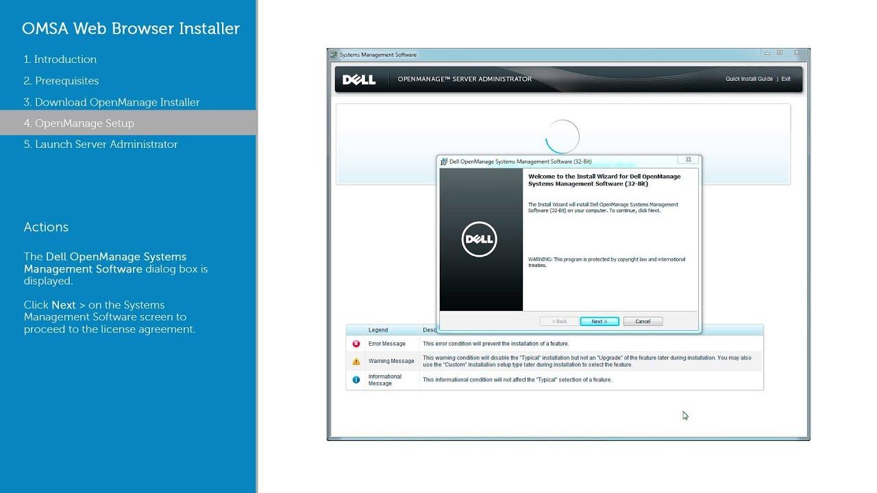 OMSA Web Browser Installer - Dell OpenManage Server Administrator