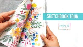 Sketchbook Tour - Look what's inside (watercolor art)