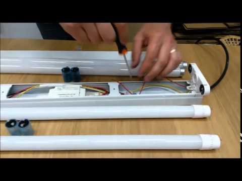 Plafoniera Led Dedeman : Montare tub led in corp pentru neoanele vechi youtube