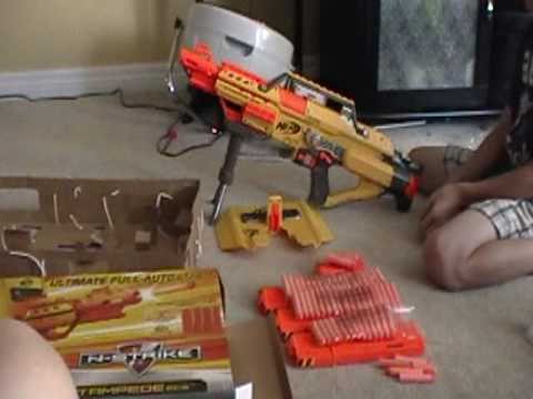 Nerf N Strike Stampede Ecs Unboxing And Review Part 1