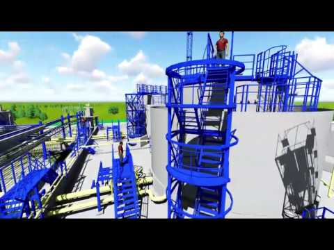 Oil & Gas Plant 3D Animation - Modeled in Aveva Pdms (MTBE)