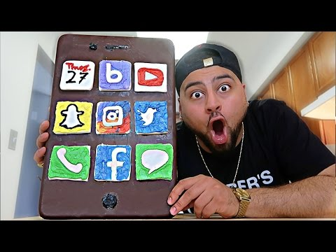 DIY GIANT CHOCOLATE IPHONE!!