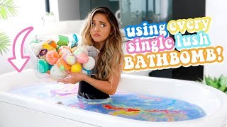 USING EVERY LUSH BATH BOMB AT ONCE!
