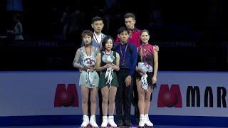 Церемония награждения. Пары. Финал Гран-при по фигурному катанию 2019/20