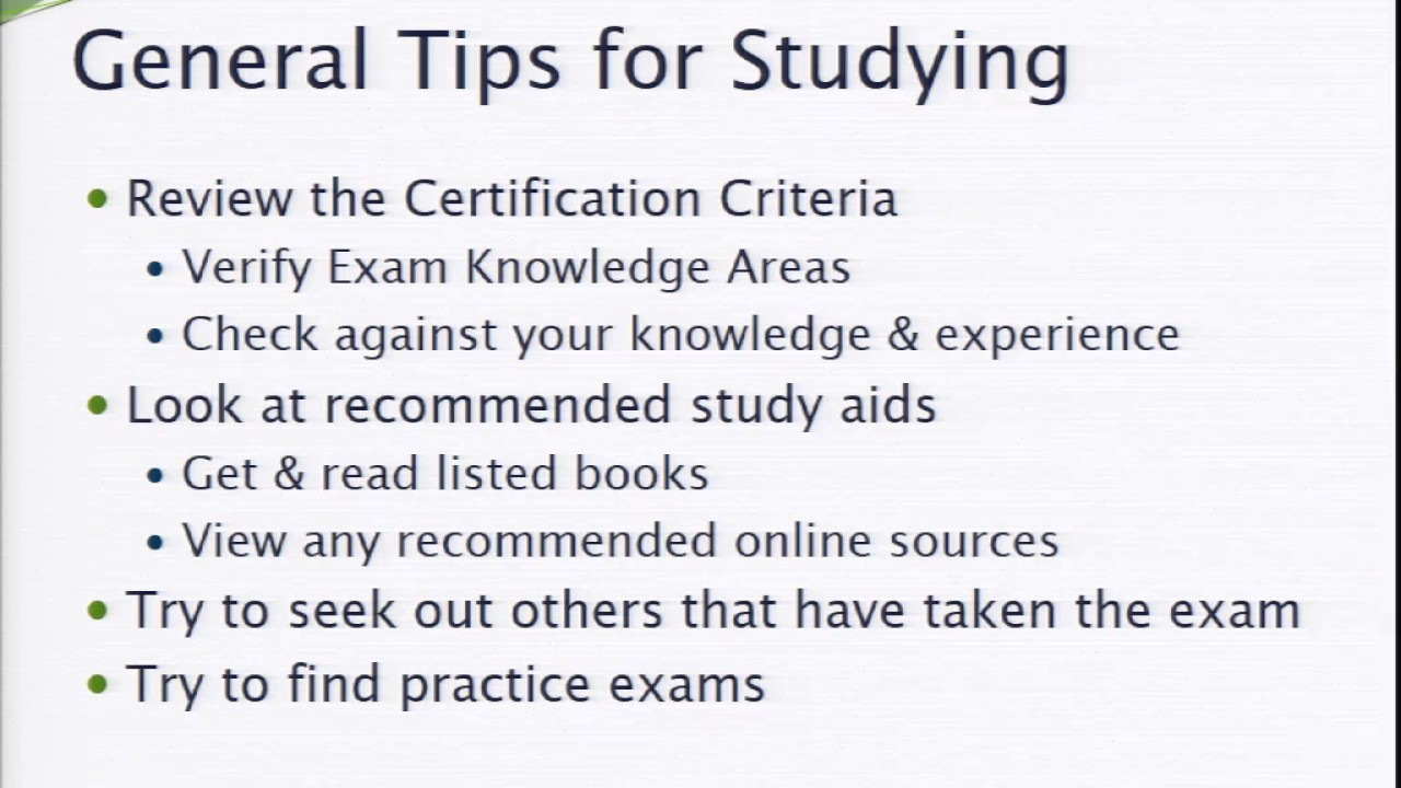 Tips and tricks for passing certification exams youtube tips and tricks for passing certification exams xflitez Images