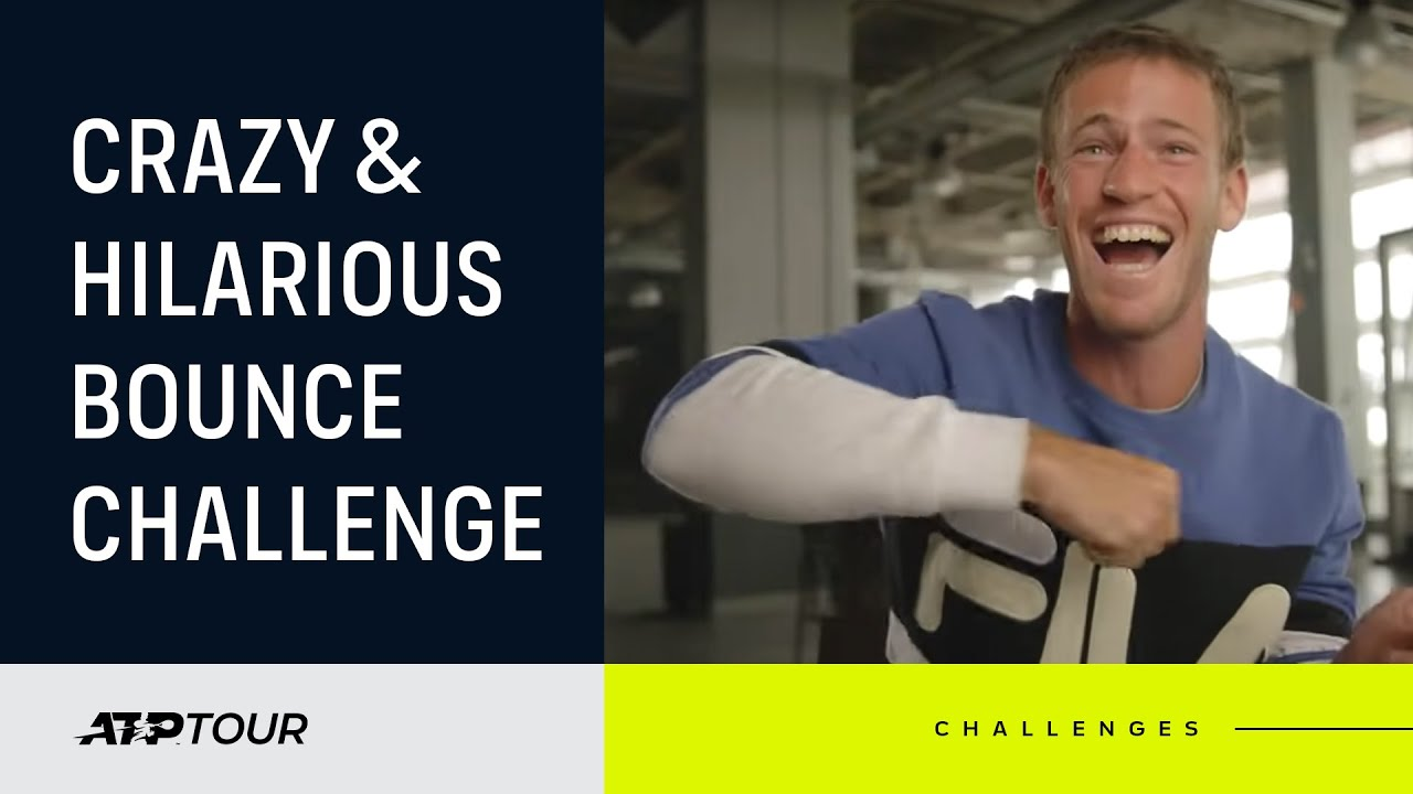Players Compete In Bizarre Bounce Challenge