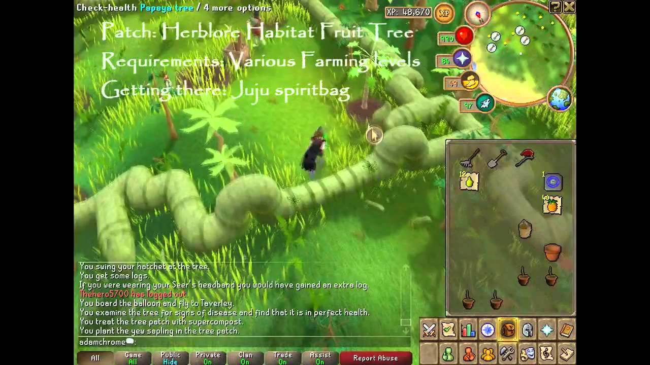 Runescape Farming Guide Trees Hd Youtube