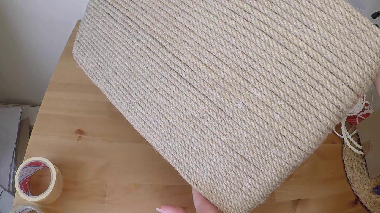 İp ve Şeffaf Naylon ile Kolay Sepet Yapımı - DIY - İKEA BASKET